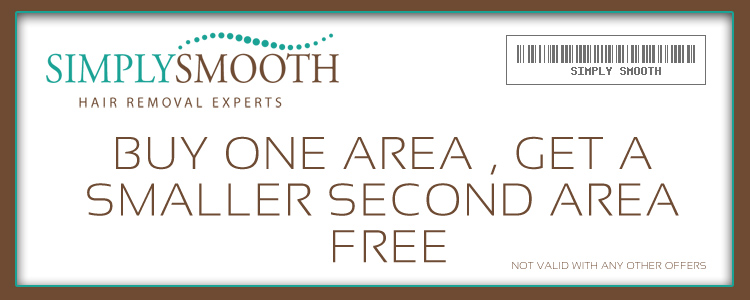 BUY ONE AREA OF HAIR REMOVAL, GET A SECOND SMALLER AREA FREE